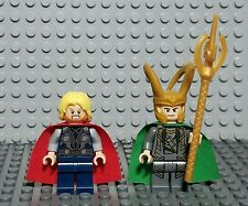 Lot of 2 Official Lego Marvel Avengers Thor and Loki Minifigures