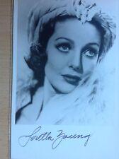 +++ Loretta Young original Autogramm 257+++ TOP