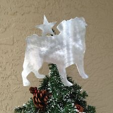 Pug with Star, Dog Tree Topper, Wreath Decor, Holiday