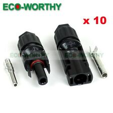 10 Pairs MC4 25A Solar Panel Connector Pairs Male Female Set PV Cable Wire