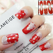 Christmas Trees Sparkly Nail Art Wrap Full Cover Stickers  #06071C Free P&P