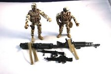 "Awesome Lot Set of 2 USA 4"" Soldiers with various Rifles"