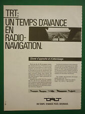1985 PUB TRT DIGITAL RADIO NAVIGATION SYSTEMS AVIONICS AVIONIQUE FRENCH ADVERT