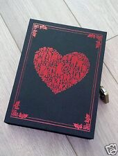 New Black Vintage Retro Paper Box Cover Blank Journal Diary Note Book With Lock