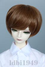 """1/6 6-7"""" Bjd Wig Dal BJD SD LUTS DOD Dollfie Doll wig Short Brown wig 08"""