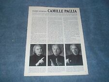 1995 Interview Article with Professor and Cultural Critic Camille Paglia