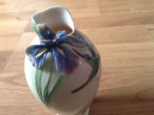 FRANZ Porcelain Vase Hummingbird & Iris by William Ho. FZ00246