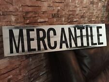 Large Mercantile Farm House Rustic Kitchen Fixer Upper Style White Wood Sign