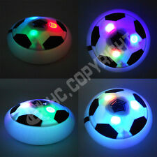 LED Air Power Soccer Football Disk Hover Glide Float Disc Fun Children Game Toys