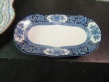 "Wood & Sons Khotan 8-1/2"" Flow Blue Underplate /Dish"