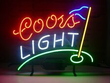 """New COORS LIGHT GOLF Beer Pub Bar Neon Sign 17""""x14"""" BE31S Ship from USA"""