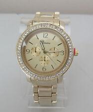 Geneva Gold Boyfriend Wrist Watch Crystal Face Women Ladies Watches