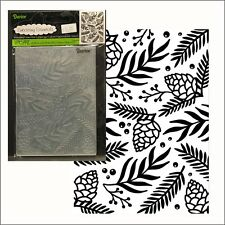 Christmas GREEN SPRIG BERRIES embossing folder Darice embossing folders 1219-240