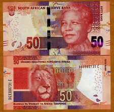 South Africa, 50 rand, ND (2012) (2014 Omron), Pick 135-New, UNC   Mandela, Lion