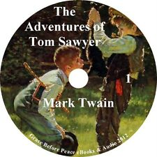 The Adventures of Tom Sawyer by Mark Twain Audiobook unabridged on 1 MP3 CD
