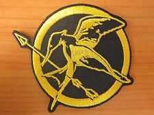Hunger Games Mockingjay Logo Embroidered Iron On Patch Badge Applique Sew on