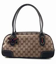 Gucci Vintage Princy Satchel Shopper Khaki Brown Pre Owned Excellent Condition