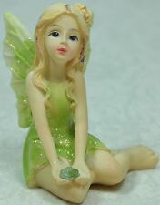 Birth Stone Fairy Figurine Miniature August Peridot 9319844285148 Poly Resin