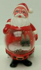 "Vintage 1950s Plastic Toy ""Santa Claus"" Refillable Snow Globe Figure Xmas Decor"