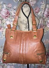 THE SAK-LargeSoft Pebbled Leather-Tote-Shopper-Shoulder Bag-w/Gold Tone Hardware