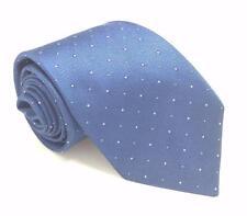 $125 KENNETH COLE Men`s WHITE NAVY BLUE POLKA DOT NECKTIE SLIM NECK TIE 60x2.25