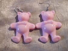 Große Tedybär Bär  Ohrringe  rosa Neu  6 cm