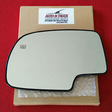NEW MIRROR GLASS CHEVY SILVERADO GMC SIERRA DRIVER POWER HEATED WITH BACKING