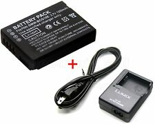 1200m Battery + Charger for DMW-BCG10PP Panasonic Lumix DMC-ZS20 DMC-ZX1 DMC-ZX3