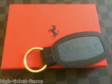 Genuine Ferrari California T Keyring in Blue Genuine Leather Made in Italy