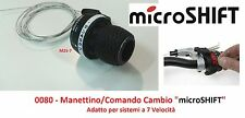 Manettino/Comando Cambio DX microSHIFT 7 Velocità per Bici 20-24-26-28 City Bike