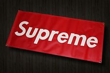 SUPREME BANNER GARAGE ROOM DECOR VINYL CROOKS DIAMOND RED WHITE SKATE SIGN AD R