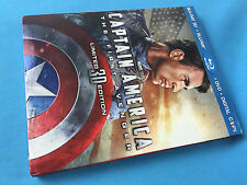 Captain America The First Avenger 3D Blu-ray DVD and Digital Copy Factory Sealed