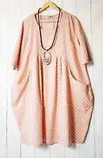 Moonshine Robe Robe Ballon 48 50 52 Rose Superposition À Pois À Pois Été Neuf