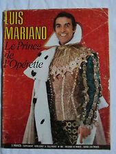 LUIS MARIANO LE PRINCE DE L'OPERETTE TRES RARE SUPPLEMENT A TELE POCHE