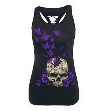Women Summer Tank Top Gothic Punk T-Shirt Tee 3D Digital Sleeveless Vest Shirts