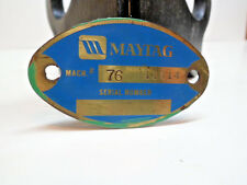 Vintage Maytag Factory Brass Machine Serial Plate