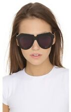 $300 Karen Walker Black Frame One Meadow Cat Eye Sunglasses