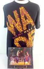 Dwyane Wade T Shirt & Photo Plaque Miami Heat Large Black UNK NBA Basketball
