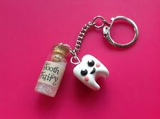 keyring Tooth Fairy Handmade Glitter Cute Gift Sweet Retro