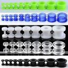 Pair Acrylic Screw Ear Plugs Tunnel Flesh Stretcher Body Piercing Jewelry Gauges