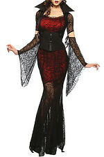 Halloween Vixen Vampire Hollow Out Sexy Costume Deluxe fashion Adult Fancy dress