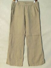 D9416 London Jean Beige Linen Cool Pants Women's Measured 32x31 Tagged 6