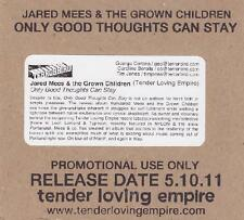 JARED MEES & THE GROWN CHILDREN - ONLY GOD THOUGHTS  CAN STAY - CD, 2011 - PROMO