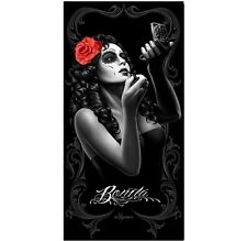 David Gonzales Art DGA Bonita Tattoo Make-Up Goth Punk Rock Beach Towel 30X60