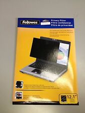 Fellowes 480080 Flat Panel Privacy Filter for 12.1-Inch Laptop BRAND NEW