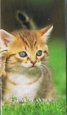 KITTEN 2015-2016 - 2 YEAR POCKET CALENDAR AGENDA PLANNER APPOINTMENT BOOK CAT *