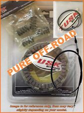 Tusk Clutch Kit, Springs, Cover Gasket & Cable for Honda CR500R 1990-2001, CR500