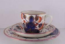 Antique 1800s Pink Lustreware Cup Saucer Bread Plate Trio Set English Berry