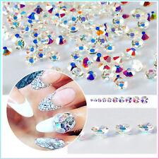 150Pcs/Boîte 3D Déco des Ongles en Diamant Artificiel Nail Art Taille Aléatoire