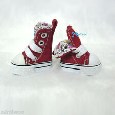 "Mimi Collection 12"" Neo Blythe Pullip Doll Denim MICRO Shoes Folded Boots RED"